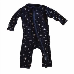 Kickee Pants Zipper Coverall Black with Stars